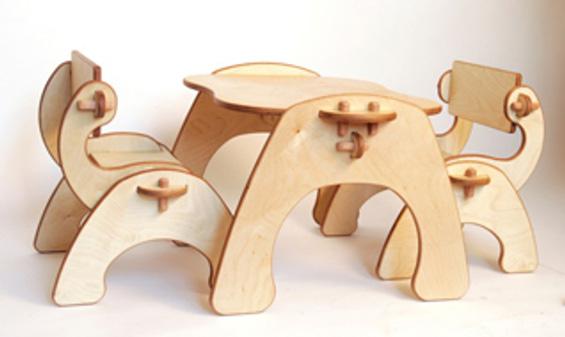 Mesa y sillas puzzle 3D